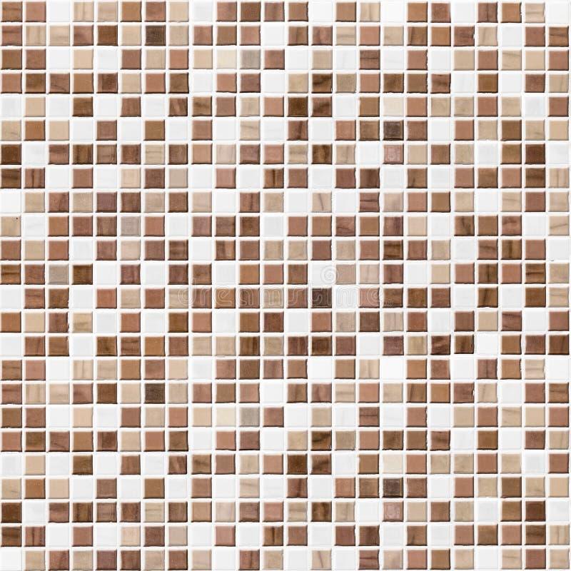 Brown taflował łazienki, kuchni lub toalety płytki ściany tło, zdjęcia royalty free
