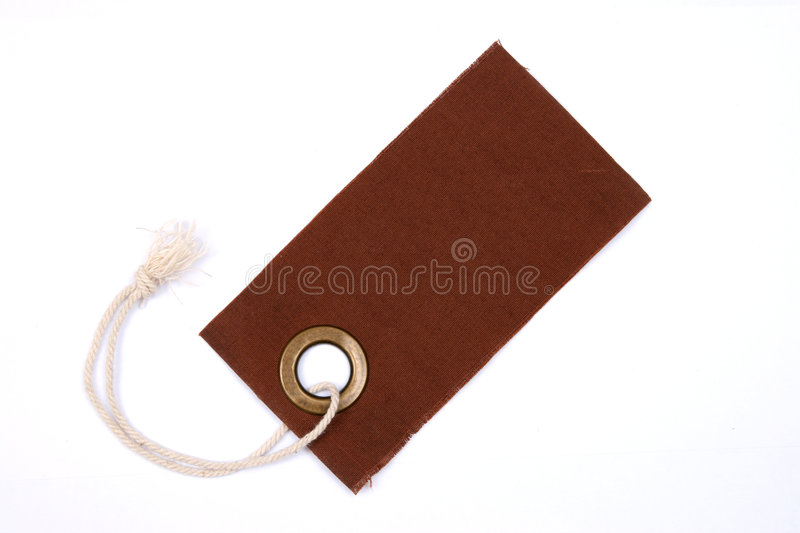 Brown tag isolated. stock photography