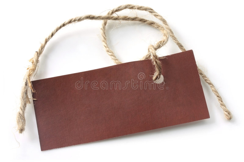 Brown Tag with String royalty free stock photos