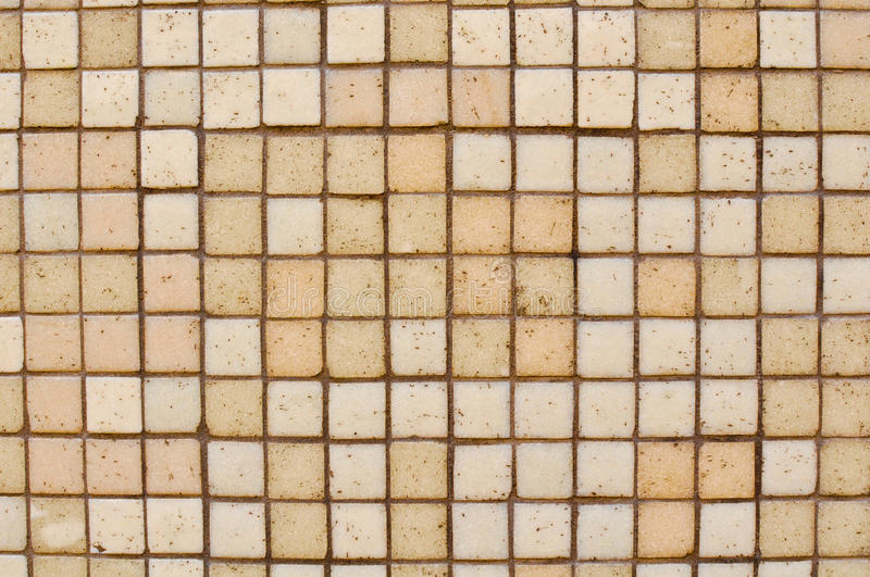 Brown Tan Mosaic Tile Background Stock Images