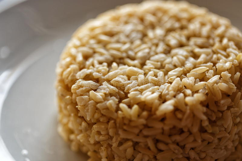 Brown tasty rice royalty free stock image
