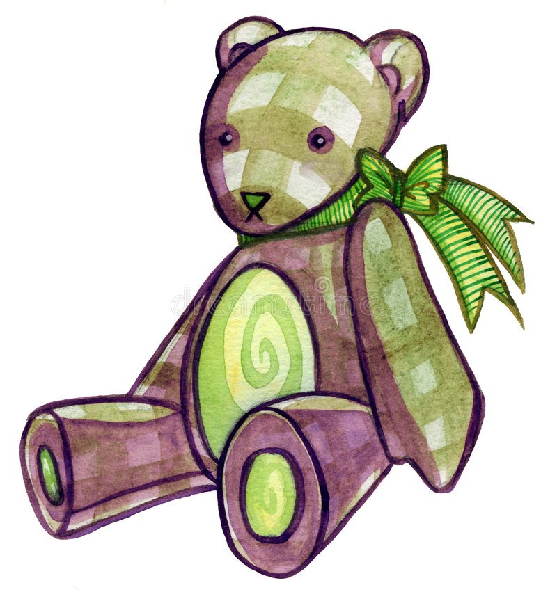 Download Brown Teddy Bear stock illustration. Image of child, sweet - 5483549