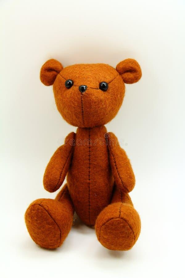 Brown Teddy Bear Fond jaune photo libre de droits