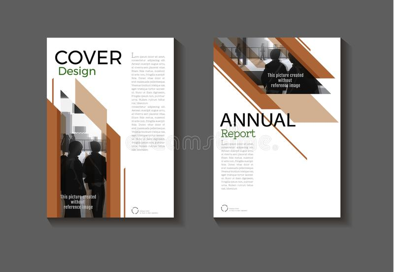 Brown template book cover design modern cover abstract Brochure stock illustration
