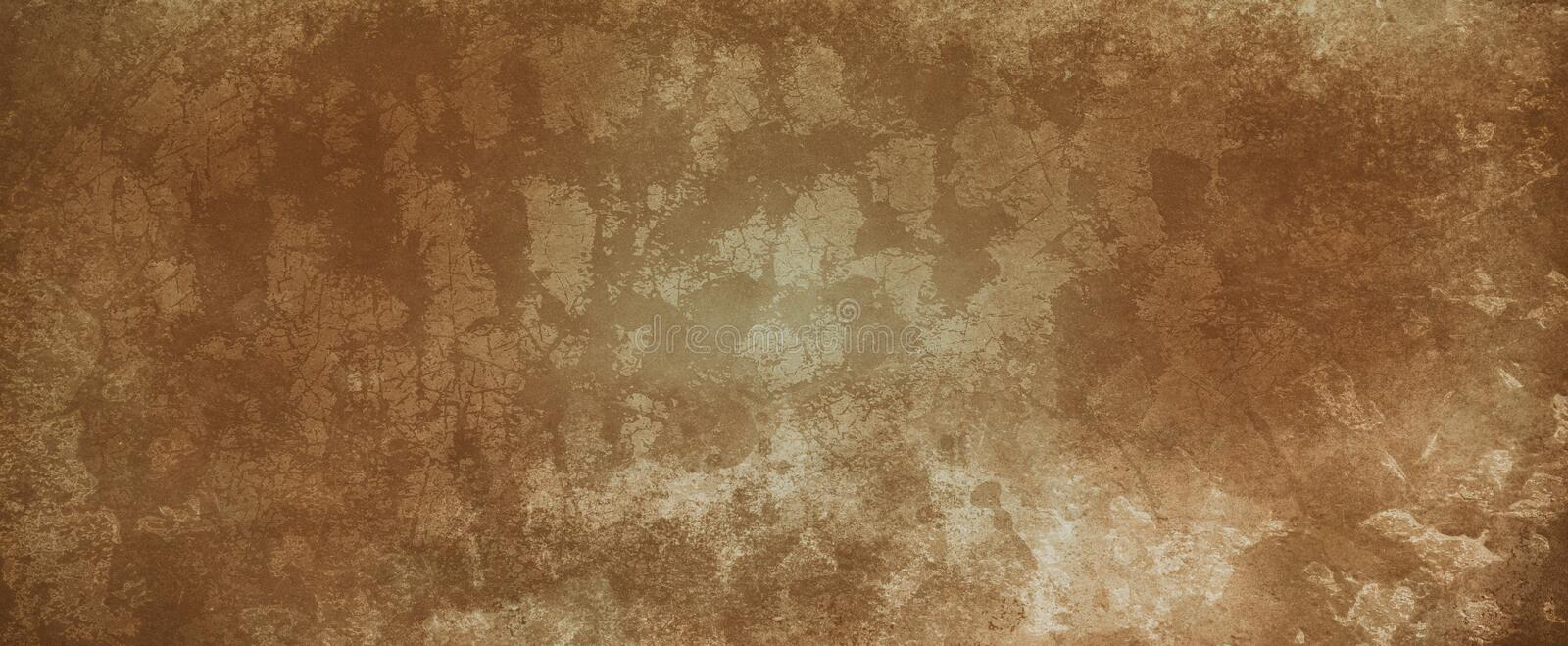 Brown texture background with vintage grunge and old antique design, damaged stained and distressed earthy dark and light brown co stock photography