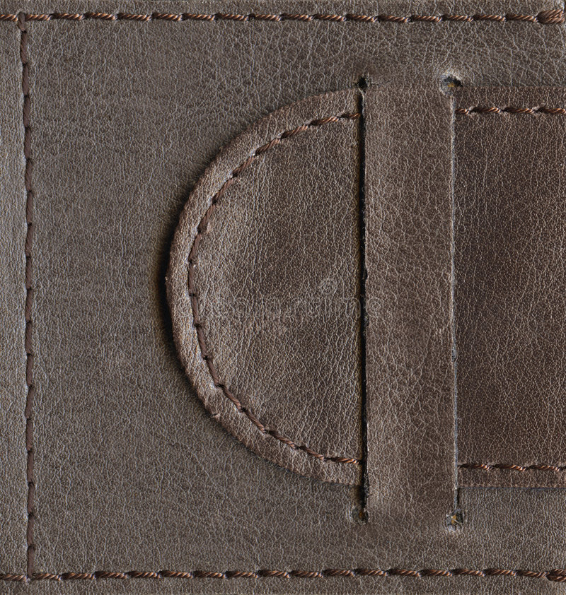 Download Brown Textured Leather Lock Stock Photo - Image: 2116612