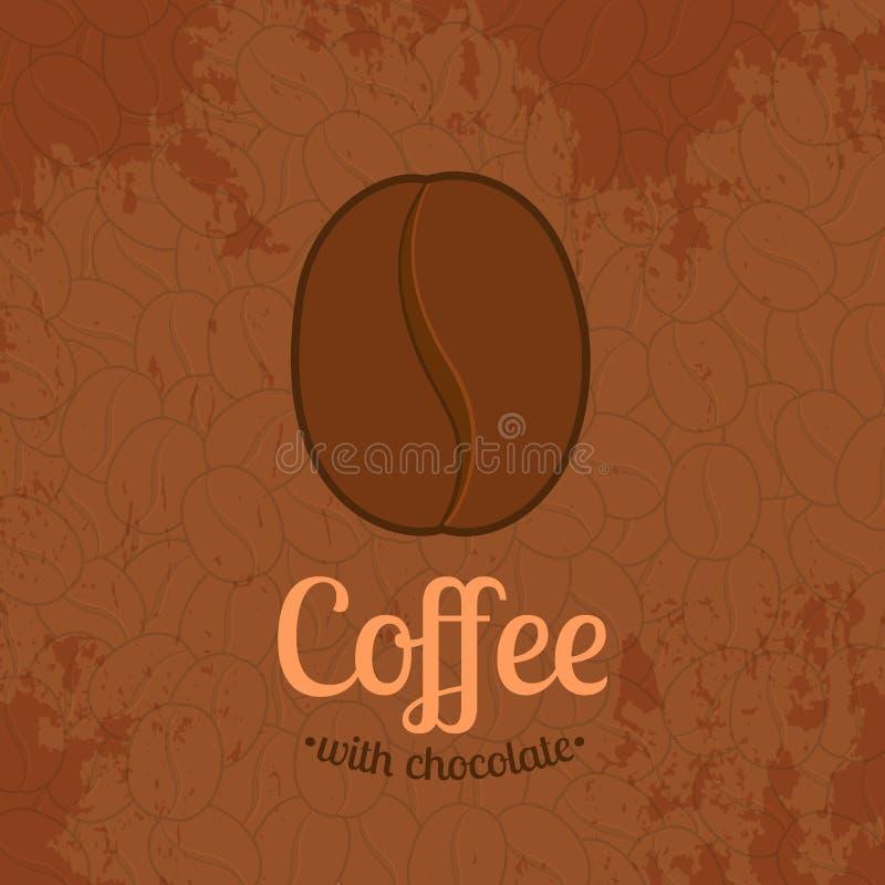 Brown Textured o fundo com feijões de café ilustração royalty free
