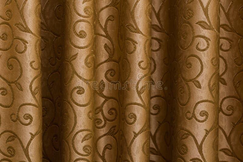 Brown tkaniny zasłony obrazy stock