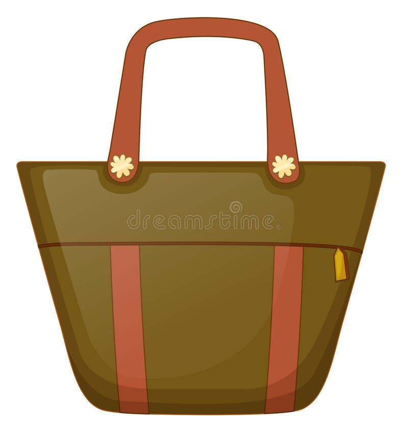 Brown torebka ilustracji