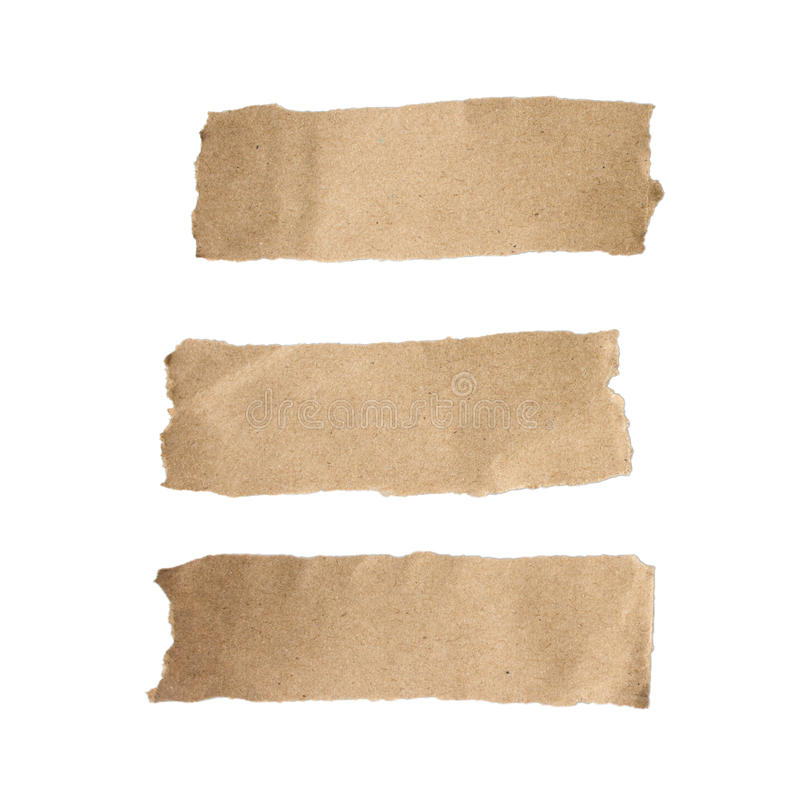 Brown torn paper set stock photography