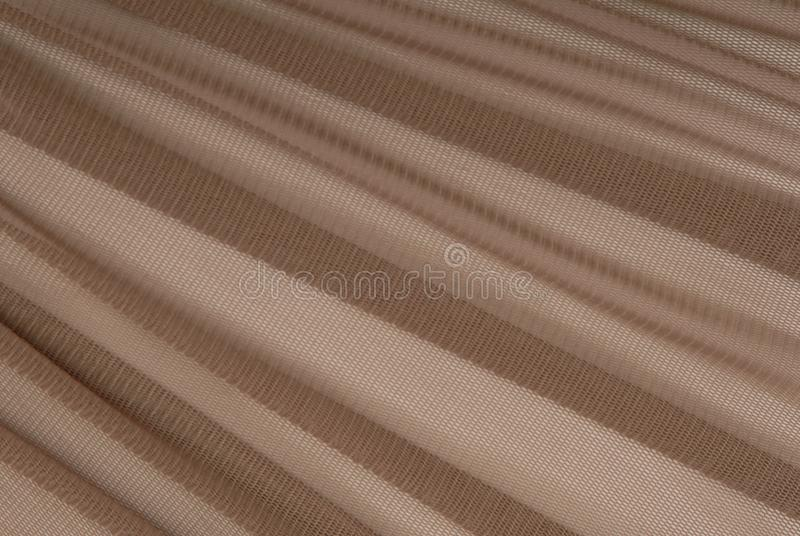 Brown transparent caprone cloth royalty free stock photography