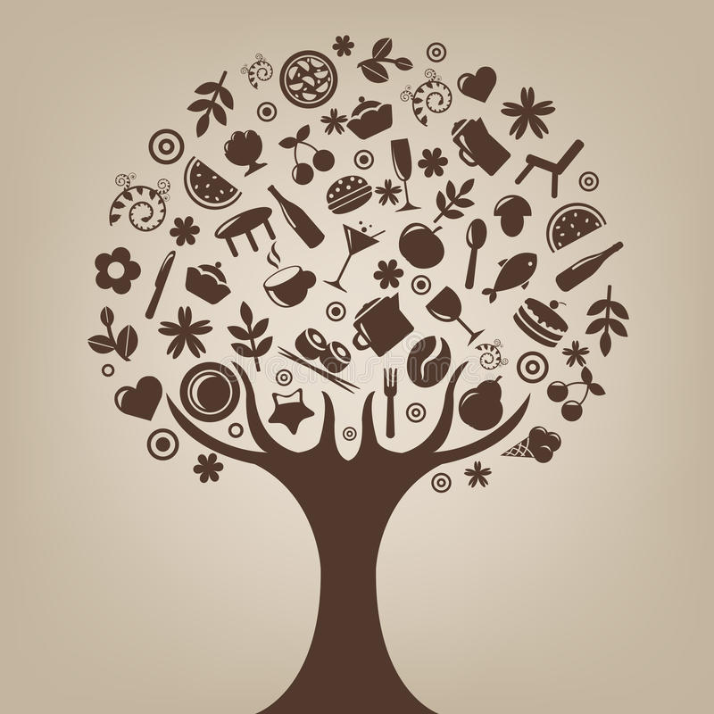 Brown Tree. Vector stock illustration