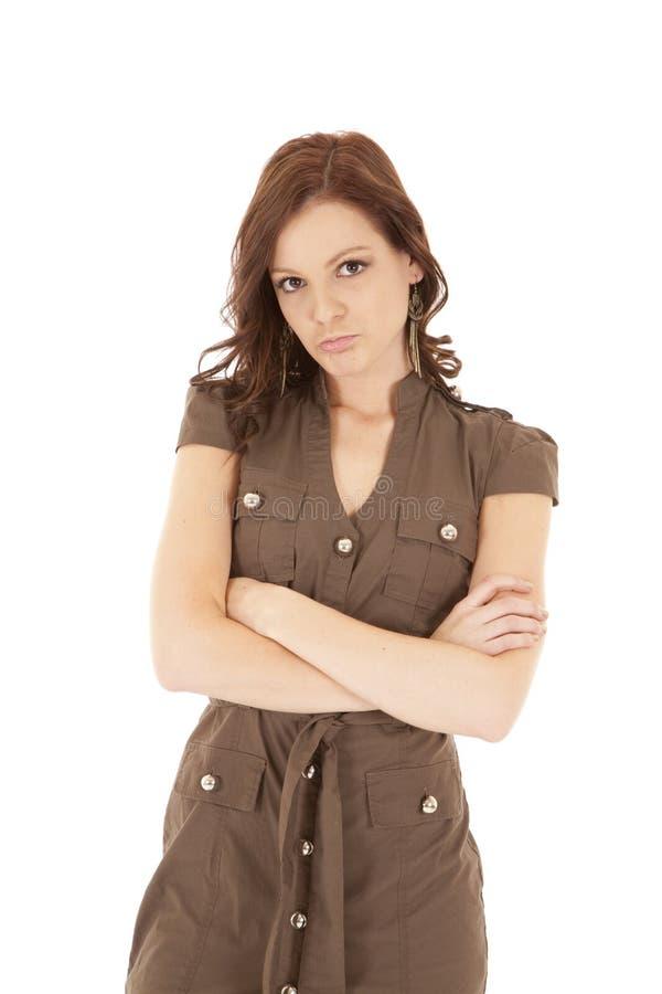 brown trutar kvinnan royaltyfri fotografi
