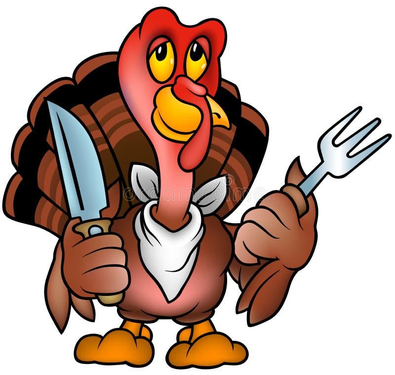 Brown Turquía stock de ilustración