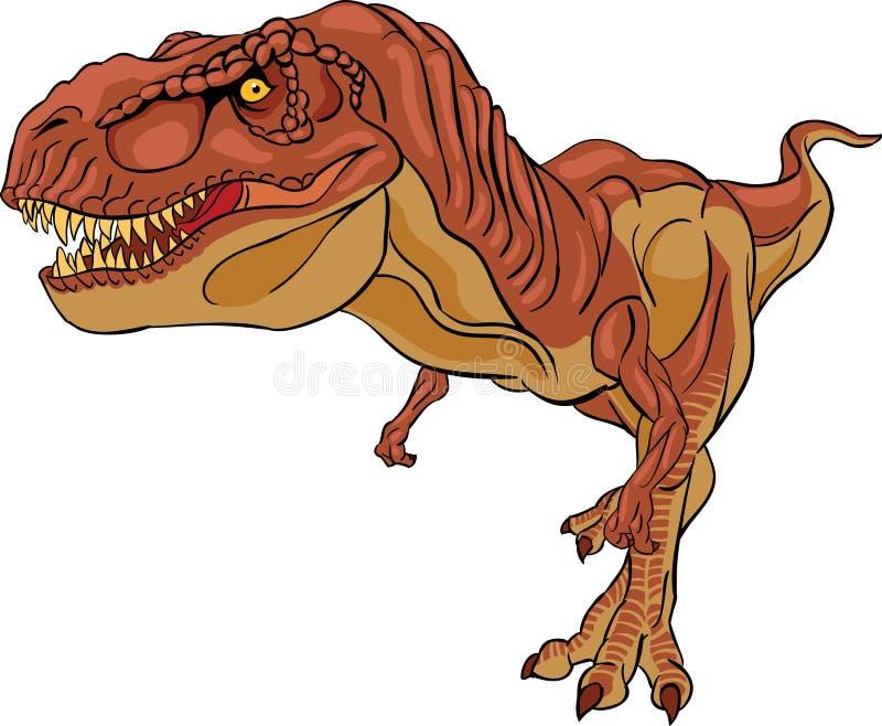 Download Brown tyrannosaurus rex stock illustration. Image of ancient - 34856065