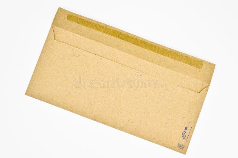 Brown und beige Umschläge benutzt für Handelskorrespondenz lizenzfreies stockbild