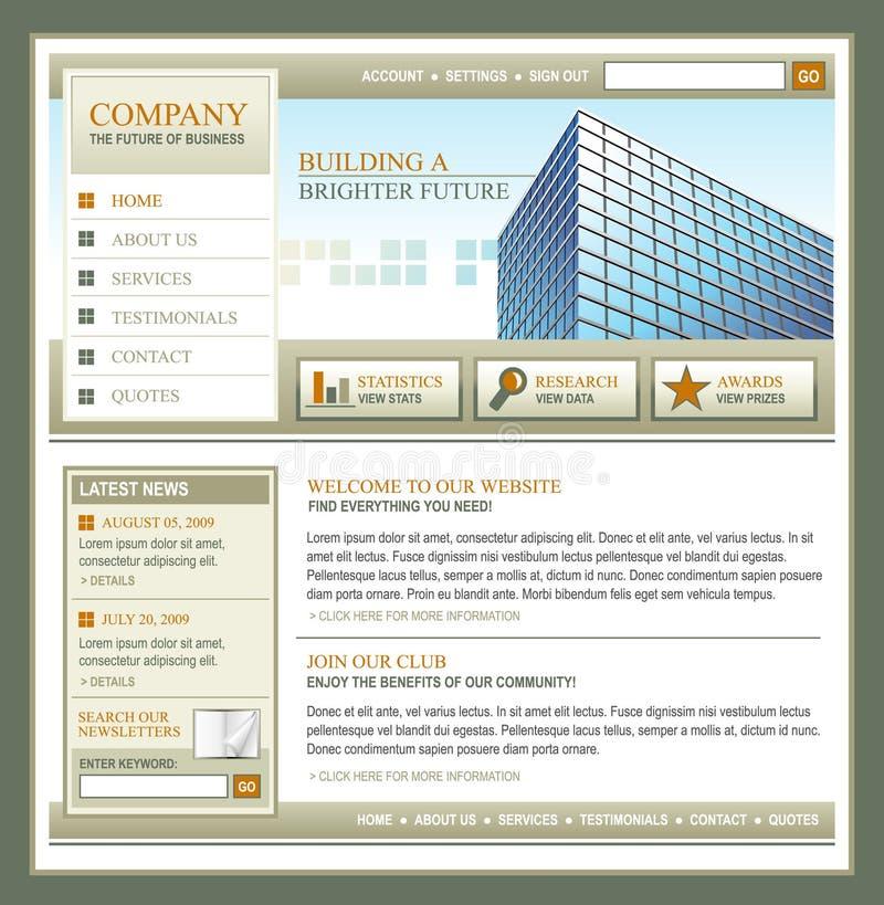Brown-und Goldtechnologie-Geschäfts-Schablone lizenzfreie abbildung