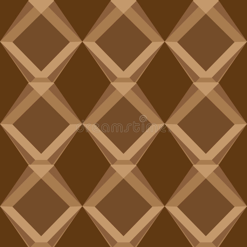 Brown universal vector seamless patterns, tiling. Geometric ornaments. royalty free stock photography