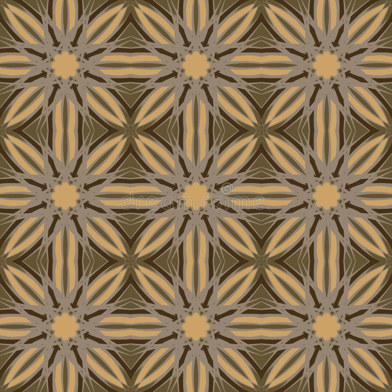 Brown vector seamless patterns, tiling. Geometric ornaments. royalty free stock photos