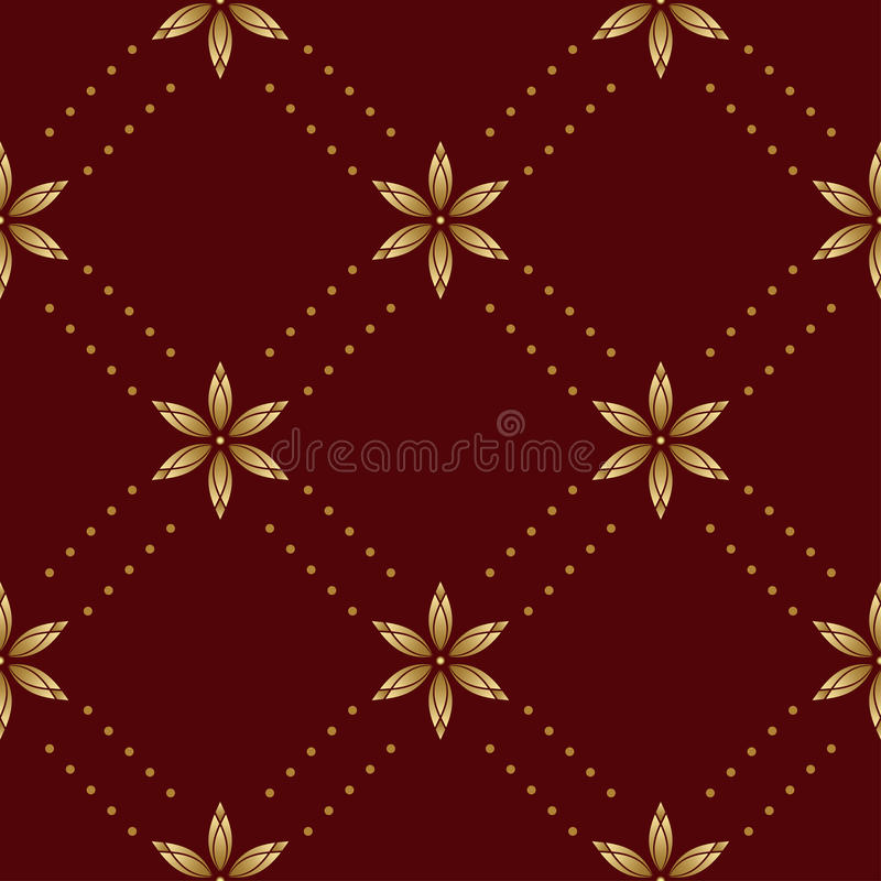 Brown Vector Seamless Texture With Rhombuses Royalty Free Stock Photo