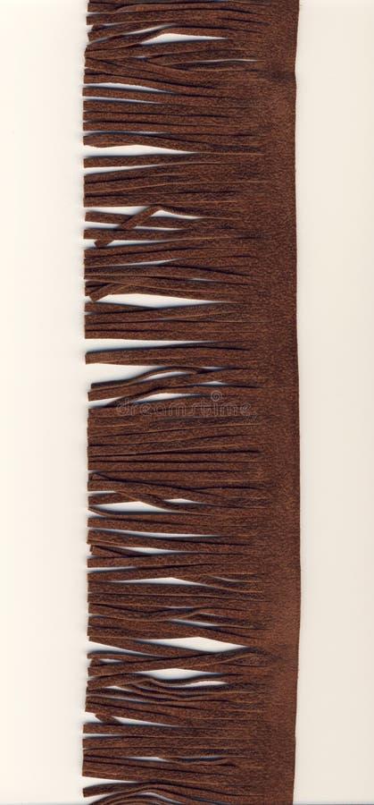 Brown-Velourslederfranse lizenzfreie stockfotografie