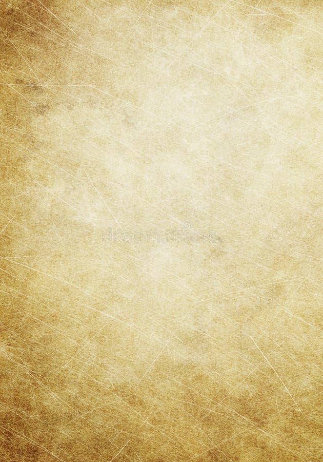 Brown, vieja textura de papel, fondo beige del grunge, puntos, scratc ilustración del vector