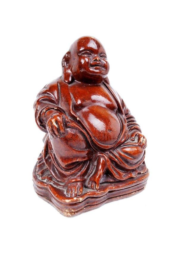 Brown viejo Buda hizo de la madera imagen de archivo libre de regalías