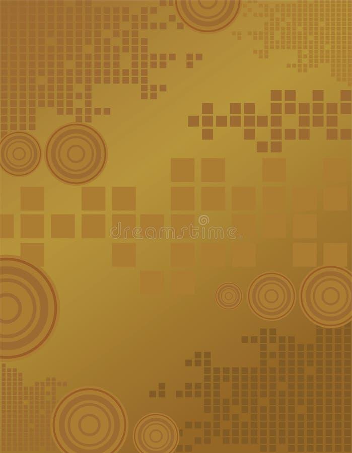Brown-Vierecke stock abbildung
