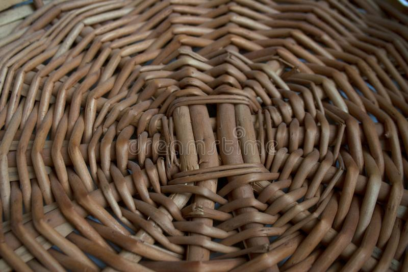 Brown vine basket detail texture stock images