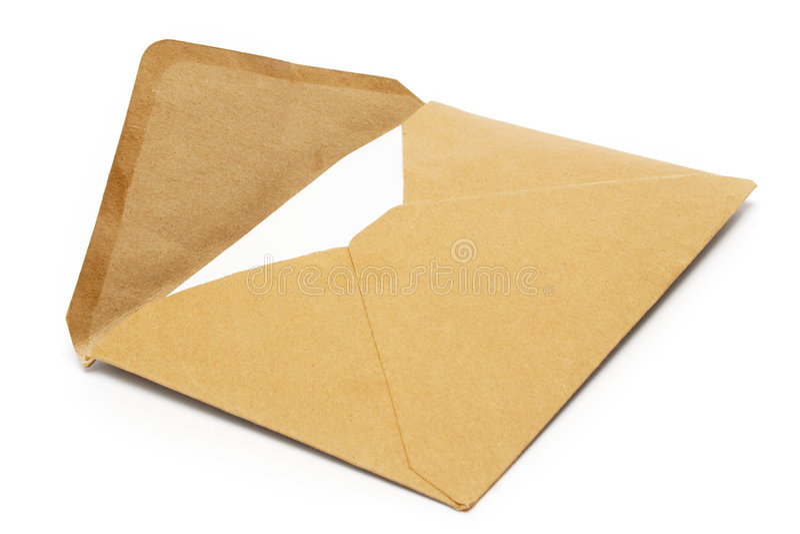 Brown Vintage Envelope stock photo
