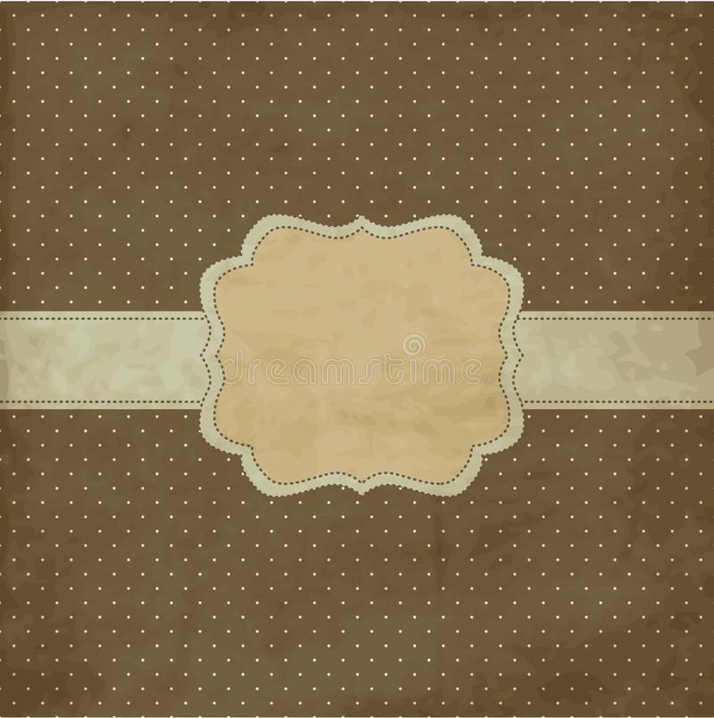 Brown Vintage Frame Stock Photography