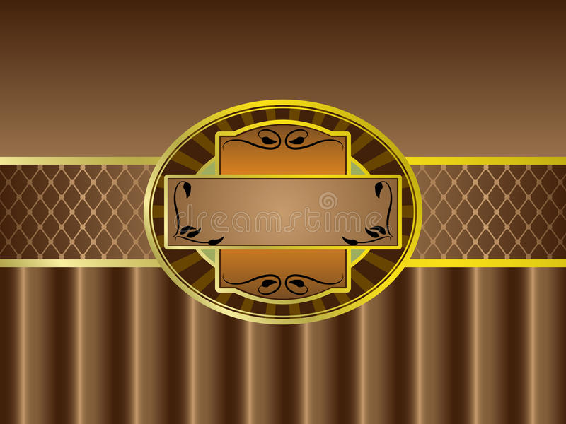 Download Brown Vintage Label Stock Photography - Image: 22693042