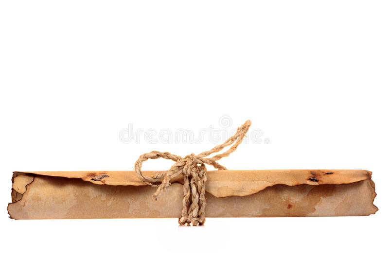 Download Brown Vintage Paper Roll Isolated Stock Photo - Image: 26929986