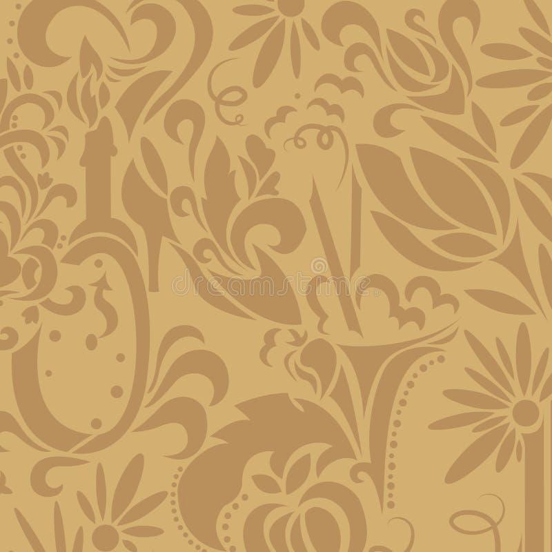 Brown vintage pattern royalty free illustration
