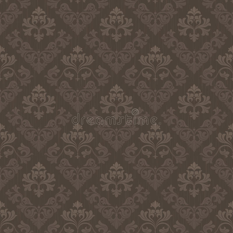 Brown vintage seamless wallpaper royalty free stock photos