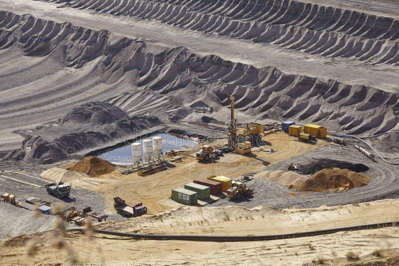 Brown węgiel - Odkrywkowy kopalnictwo Garzweiler Niemcy zdjęcie stock