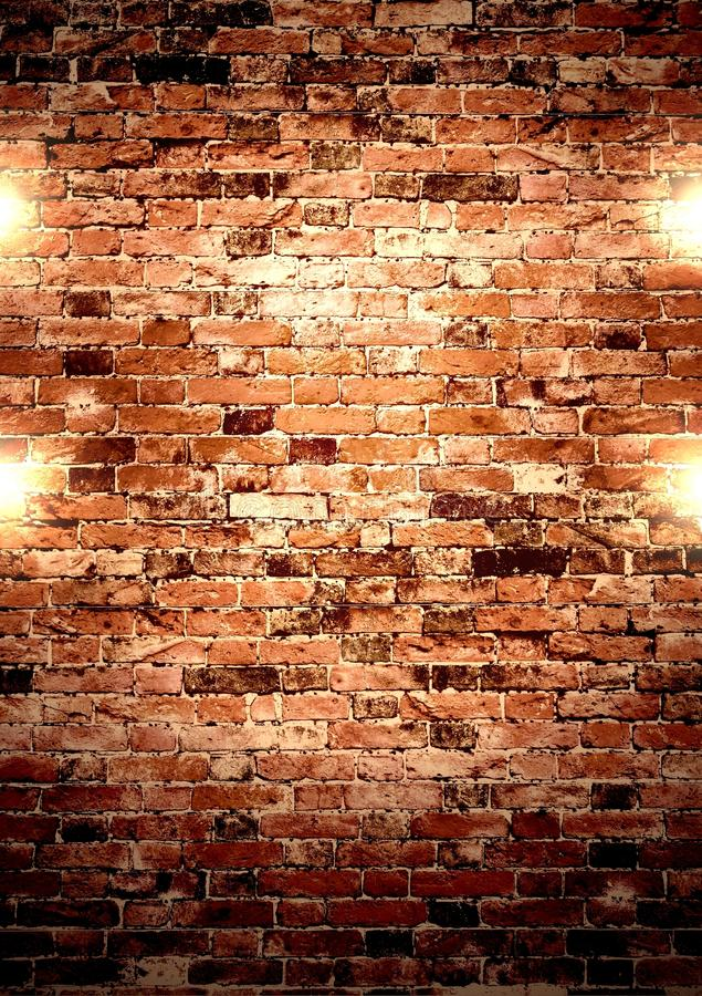 Brown Wall With Lights Stock Photo Image Of Company