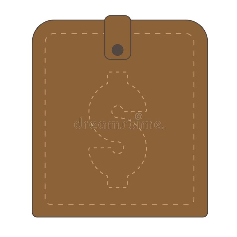 Brown wallet with dollar symbol royalty free stock image