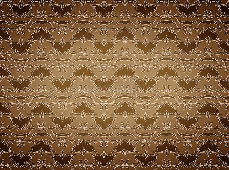 Brown wallpaper stock illustration