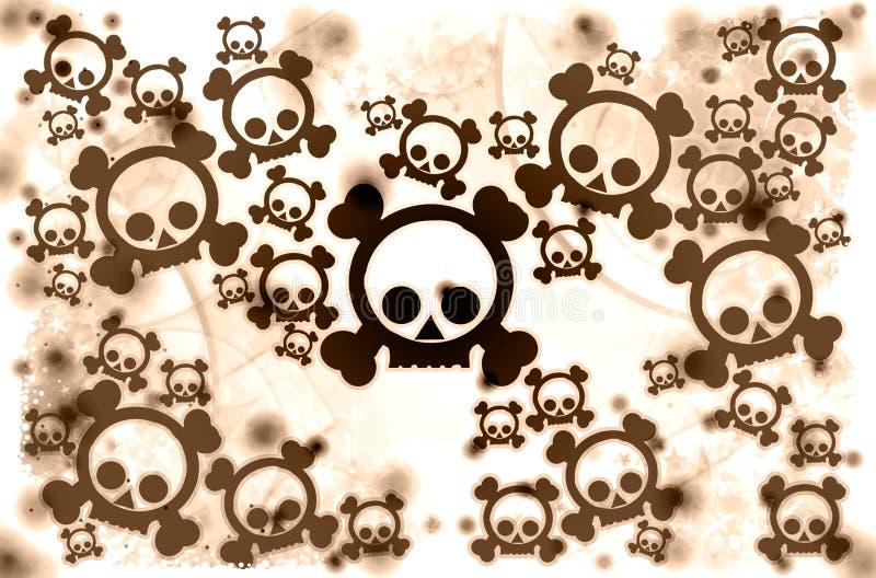 Download Brown war skulls stock illustration. Image of thriller - 17134963