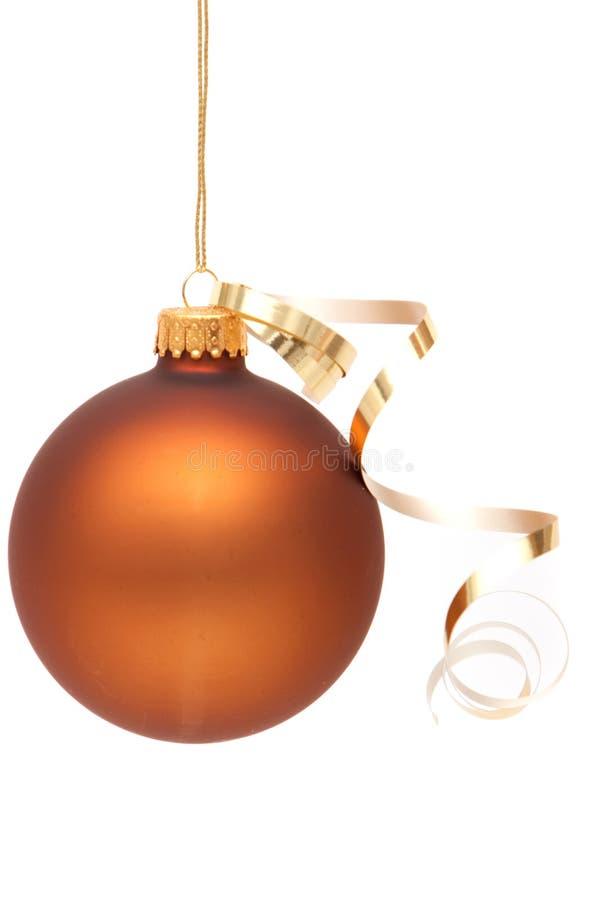 Brown-Weihnachtsverzierung lizenzfreies stockbild
