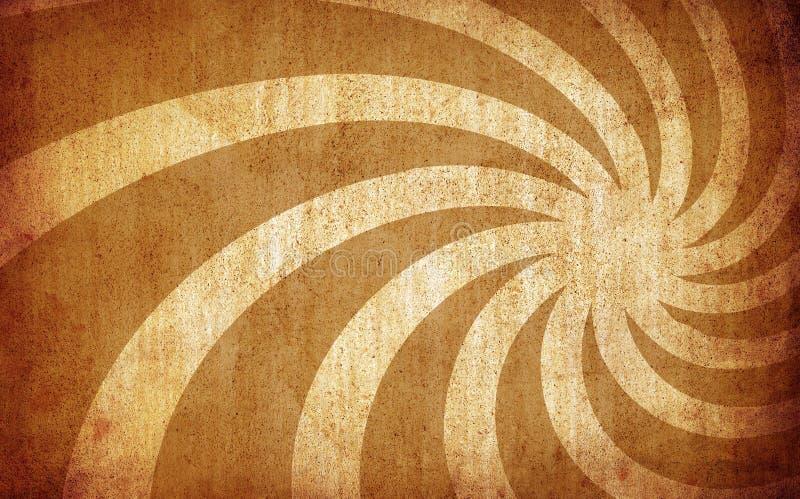 Brown-Weinlese grunge Hintergrund mit Sonnestrahlen lizenzfreie abbildung