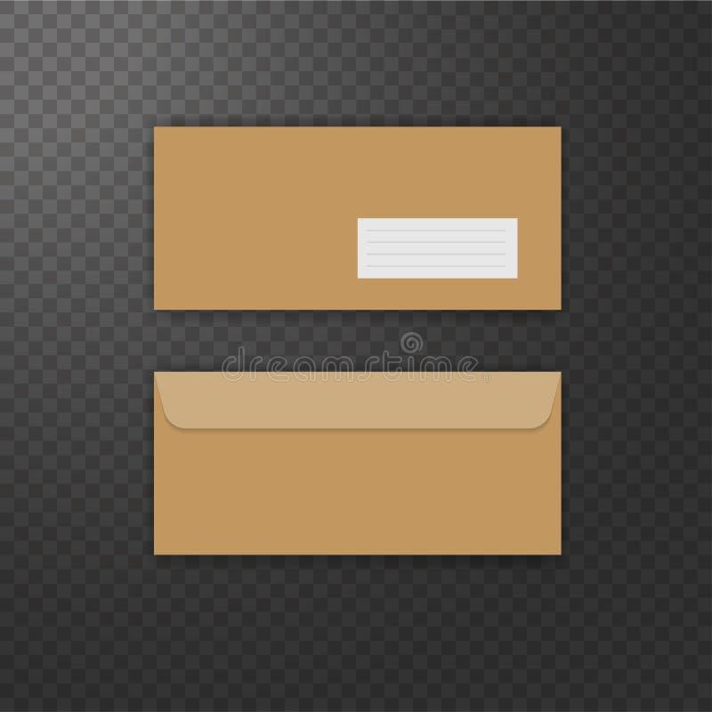 Brown-Weinleseumschlagfront und -rückseite stock abbildung