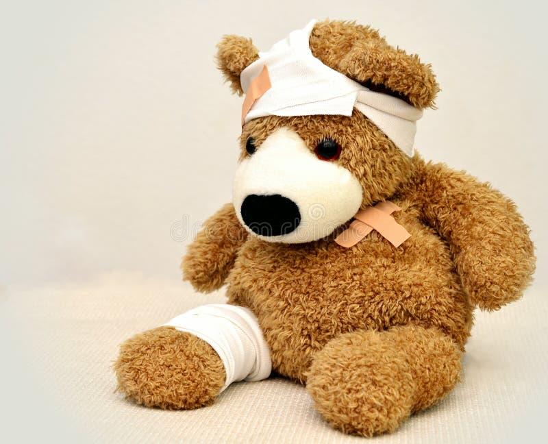 Brown and White Bear Plush Toy stock photo