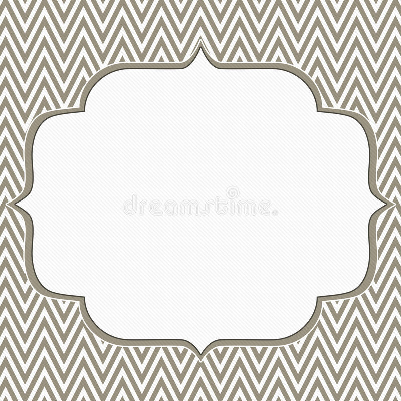 Brown and White Chevron Zigzag Frame Background vector illustration