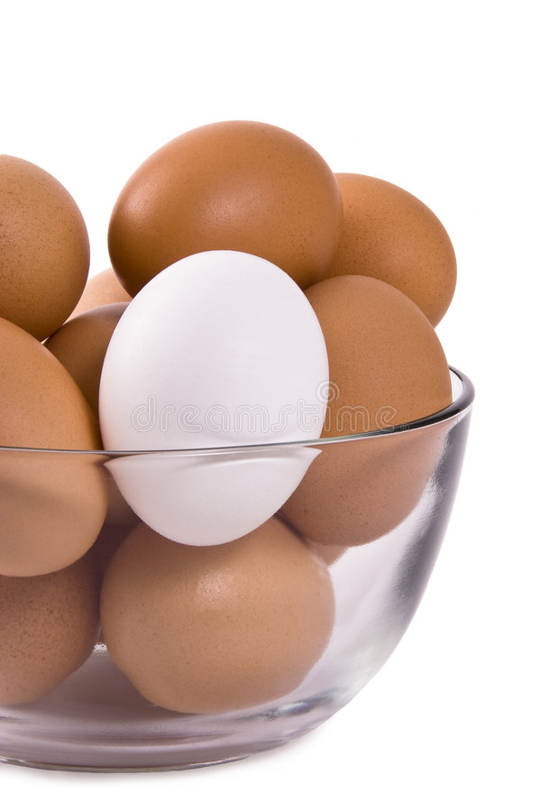 Brown and White Eggs royalty free stock image