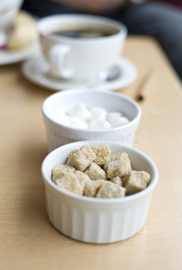 Download Brown And White Sugar Cubes Stock Photo - Image: 5290812
