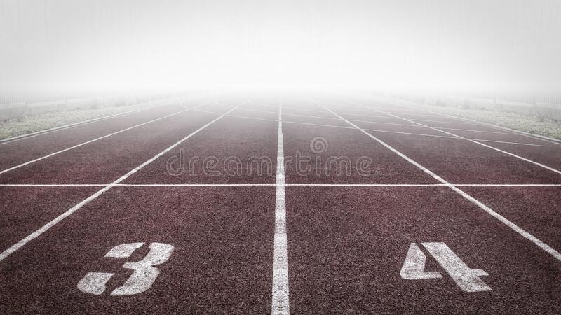 Brown and White Track Field stock photo