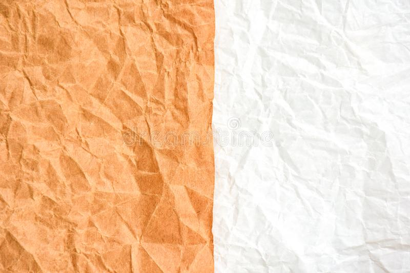 Brown and white wrinkled paper texture,concept background royalty free stock photos