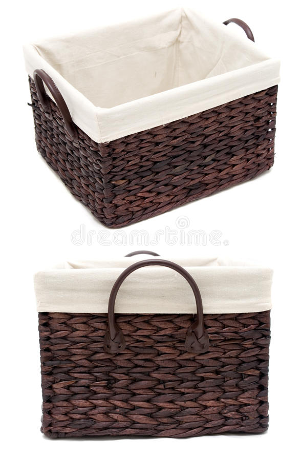 Free Brown Wicker Basket - 2 Angles Stock Photos - 10739083